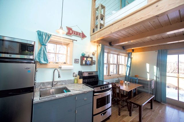 Kitchen with dining nook - COURTESY OF JAMES BUCK
