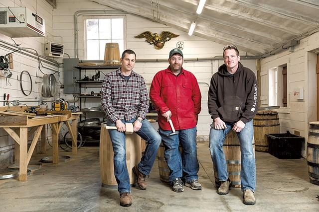 Left to right: Tony Fletcher, Josh Waterhouse and Mac Broich - OLIVER PARINI