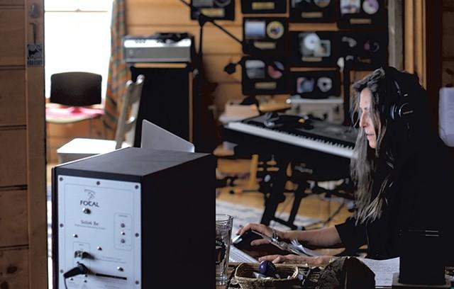 In the recording studio - SARAH PRIESTAP
