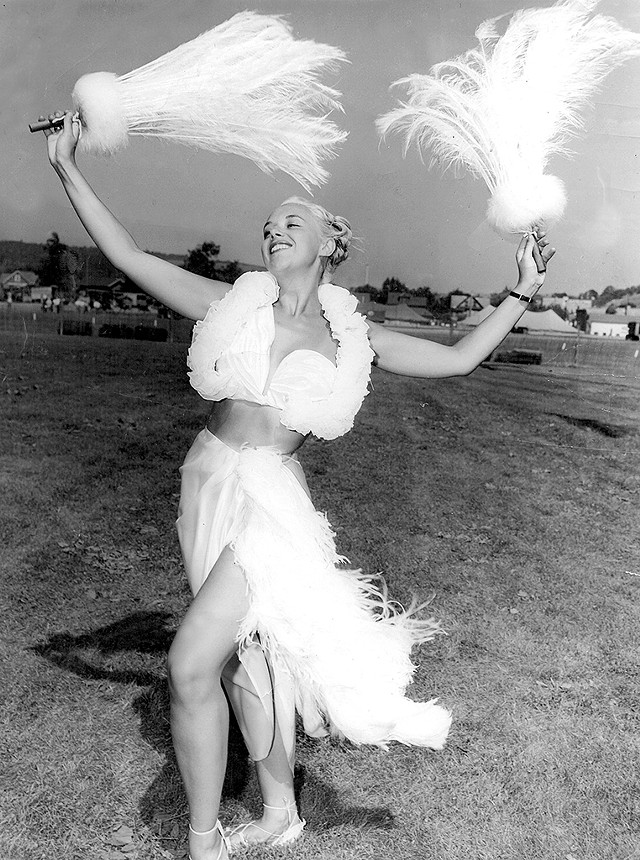 Stein in her Hawaiian costume in the '50s - COURTESY OF ELEONORA STEIN