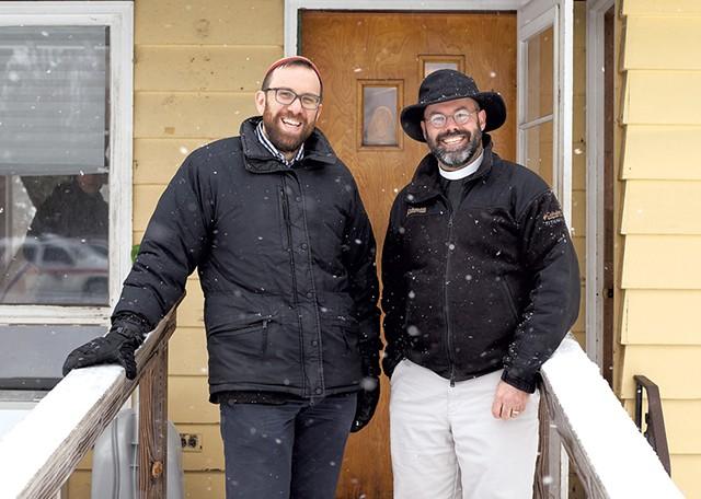 Rabbi David Fainsilber (left) and Rev. Rick Swanson - JESSICA OJALA