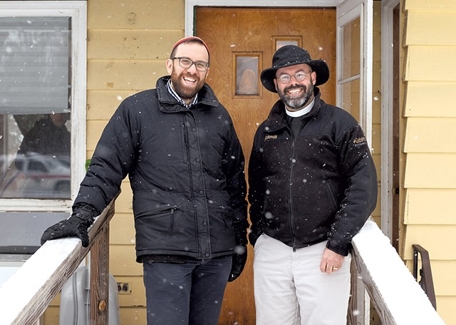 Rabbi David Fainsilber (left) and Rev. Rick Swanson - JESSICA OJALA