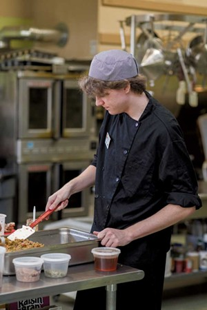 Jacques Benoit working in the kitchen - PHOTOS: OLIVER PARINI