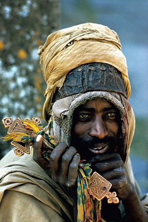 Ethiopian priest by James P. Blair - COURTESY OF NATIONAL GEOGRAPHIC SOCIETY