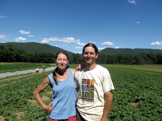 Rachel Nevitt and David Zuckerman of Full Moon Farm in Hinesburg - COURTESY OF FULL MOON FARM