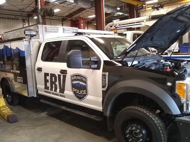 Burlington's emergency response vehicle - KATIE JICKLING