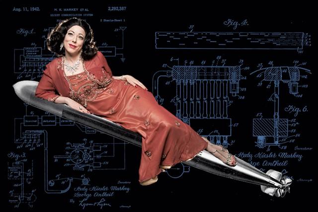 Heather Massie as Hedy Lamarr - COURTESY OF AL FOOTE III