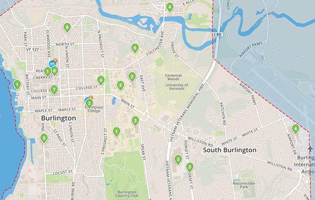 Bike share hub locations - SCREENSHOT