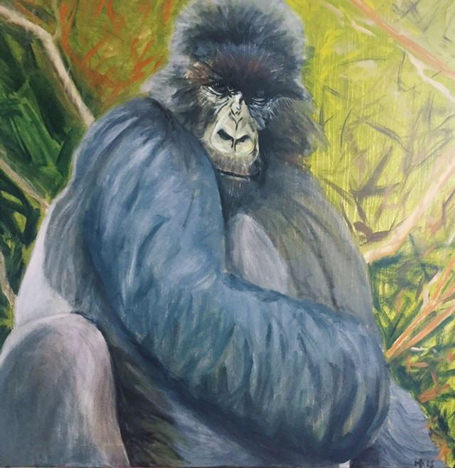 """""""Eastern Mountain Gorilla"""" by Marcia Hammond - IMAGES COURTESY OF THE GALLERY AT CENTRAL VERMONT MEDICAL CENTER"""