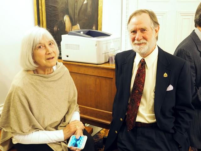 Reps. Janet Ancel (D-Calais) and Dave Sharpe - TAYLOR DOBBS