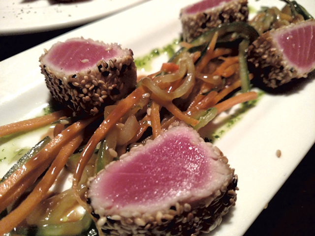 Sesame-crusted tuna at the Windjammer Restaurant - HANNAH PALMER EGAN