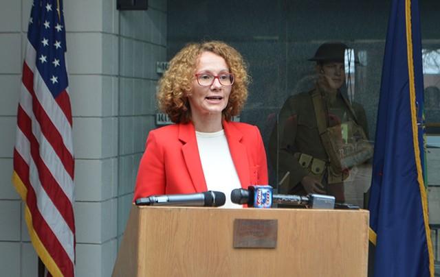 Macedonian defense minister Radmila Šekerinska - SASHA GOLDSTEIN