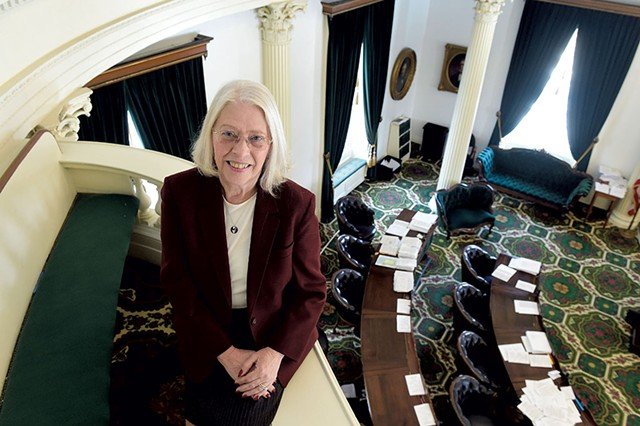 Sen. Peg Flory - R-Rutland - Senate Institutions Committee - Legislator since 1999; chair since 2013 - JEB WALLACE-BRODEUR