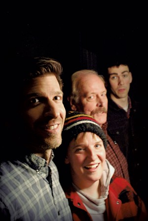 From left: Jeremy Rayburn, Meredith Gordon, Dennis McSorley and LoKi - COURTESY OF OFF CENTER FOR THE DRAMATIC ARTS