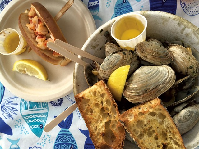Steamed clams from Joe's Kitchen at Screamin' Ridge Farm - SALLY POLLACK