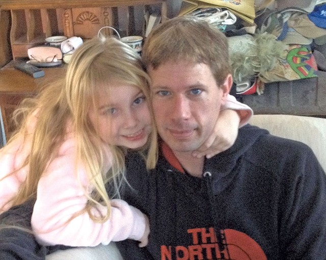 Jeffrey Adamski with his daughter, Lilly - COURTESY OF COLLEEN ADAMSKI