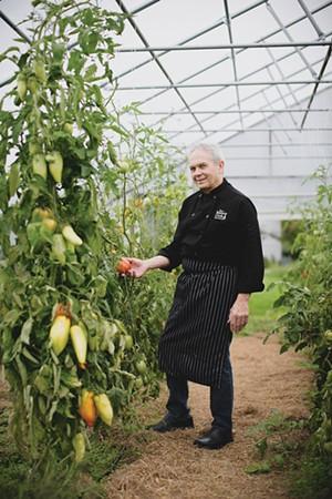 Doug Mack in the garden - BRENT HARREWYN