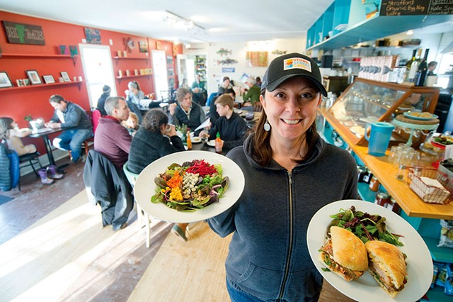 Nicole Grenier, owner of the Stowe Street Cafe - JEB WALLACE-BRODEUR