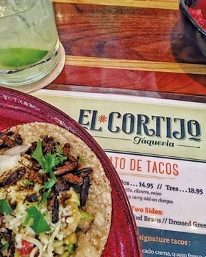 Cricket taco at El Cortijo - COURTESY OF FLOURISH FARM