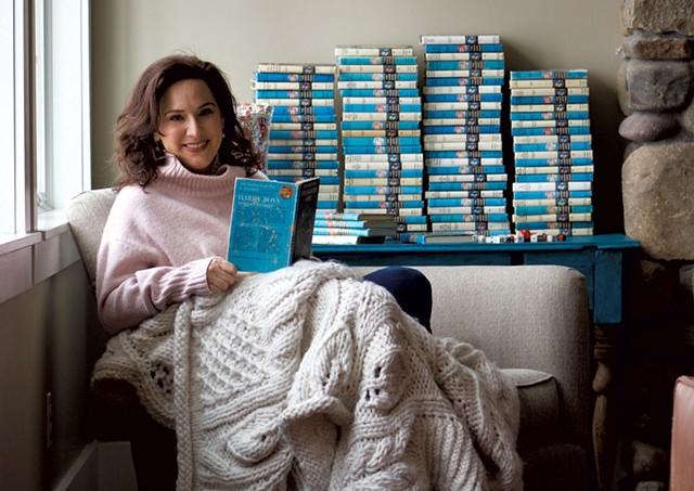 Palmisano with her Hardy Boys and Nancy Drew book collection - COURTESY  OF GABRIELLE BOOTH