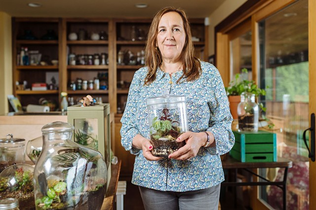 Susan Goldstein and her Muddy Toes terrariums - OLIVER PARINI