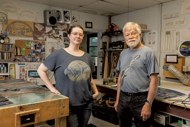 Emily Stoneking and Larry Ribbecke in their studio - OLIVER PARINI