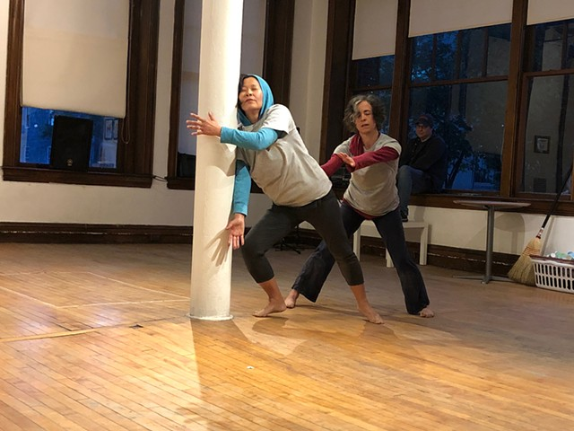 Chong Ho Kim and Clare Byrne moving to improvisations by Randal Pierce - SADIE WILLIAMS