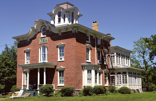 The Alpha Gamma Rho house at the University of Vermont - KATIE JICKLING