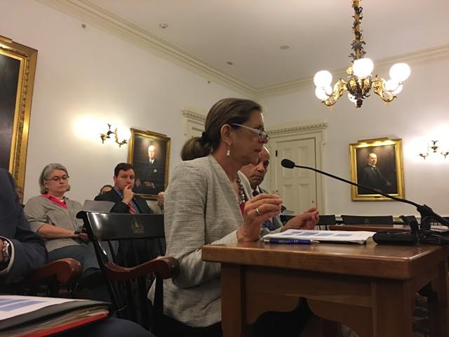 Administration Secretary Susanne Young addresses three Senate committees - JOHN WALTERS