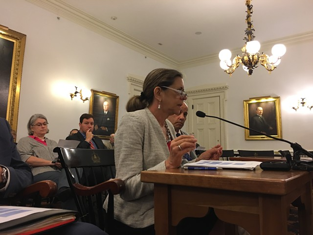 Administration Secretary Susanne Young addresses three Senate committees - JOHN WALTERS
