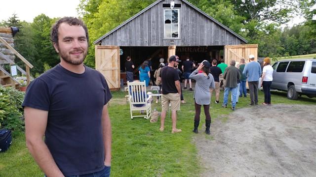 Andy Bouchard in front of the Barrage - JORDAN ADAMS