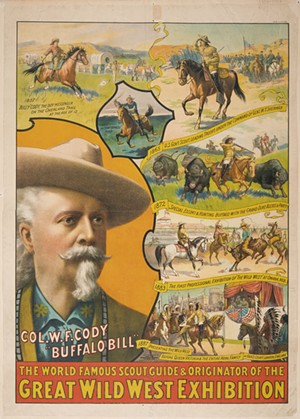 """Strobridge Lithograph Co.'s """"Great Wild West Exhibition"""" - IMAGES COURTESY OF SHELBURNE MUSEUM"""