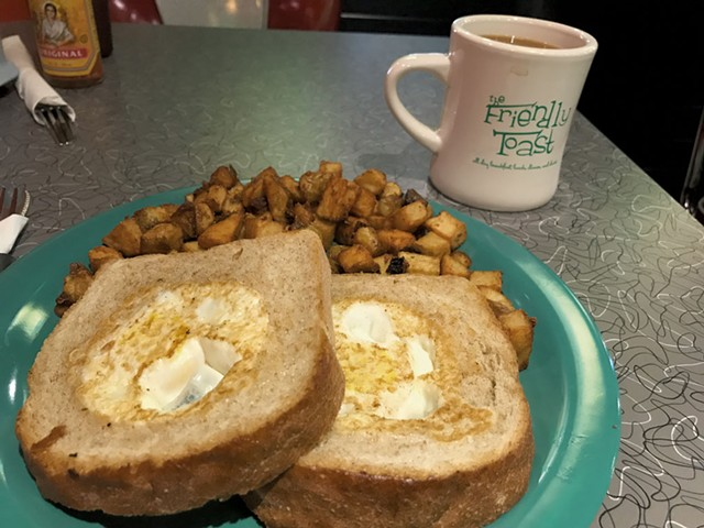A breakfast dish at the Friendly Toast - COURTESY OF  THE FRIENDLY TOAST