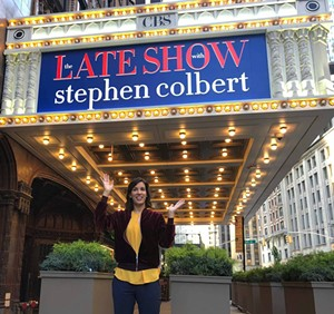Carmen Lagala at the Ed Sullivan Theater in New York City - COURTESY OF CARMEN LAGALA