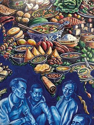 A Tara Goreau mural at the South End City Market - SADIE WILLIAMS