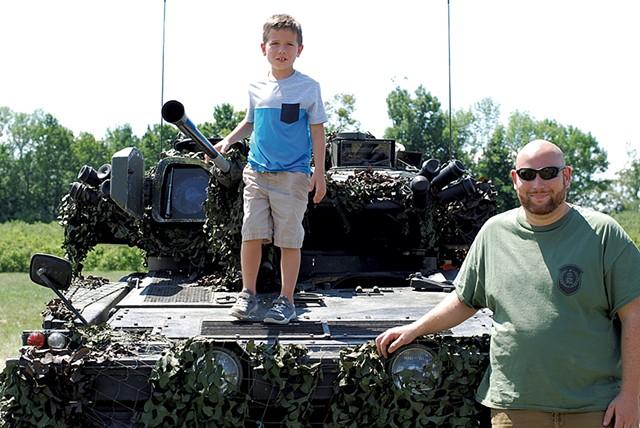 Derek Chace and his son, Hugh - SARA TABIN