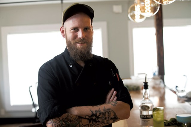 Executive chef Cory Perkins - JAMES BUCK