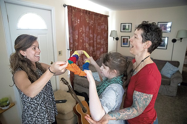 From left: Marcie Hernandez, Hannah Waterman and Stephanie Shohet - JAMES BUCK