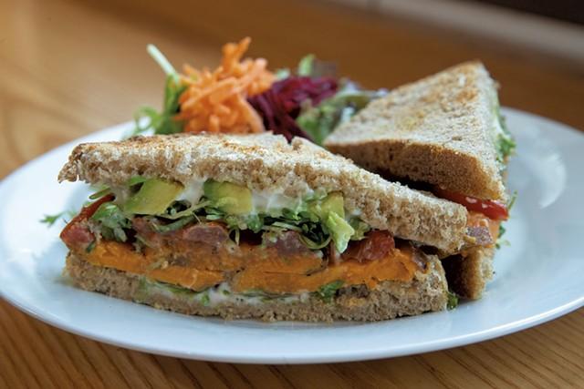 Sweet potato sandwich at Knead Bakery - JAMES BUCK