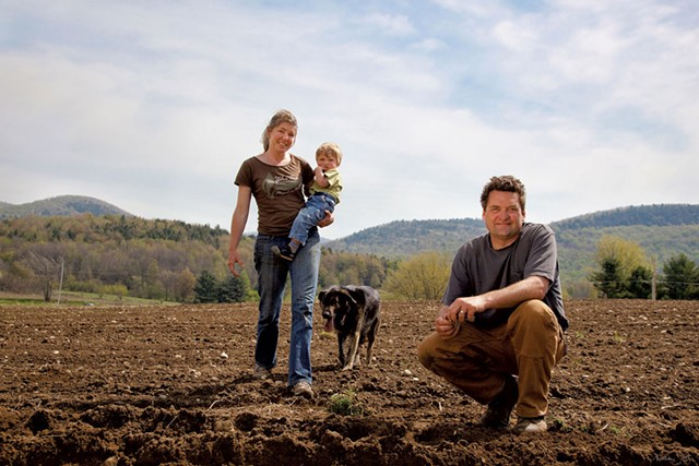 From left: Keenann, Hans and Eric Rozendaal at Rockville Market Farm in 2010 - COURTESY OF NATALIE STULTZ