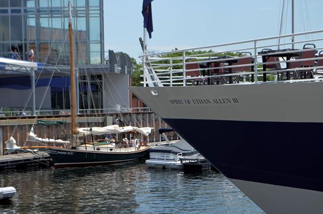 The Spirit of Ethan Allen III docked at Burlington's waterfront - KEN PICARD
