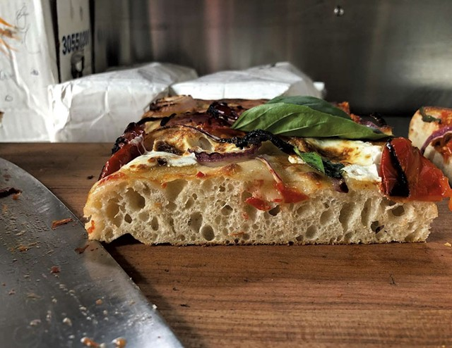 Sicilian-style pie at Pizzeria Ida - COURTESY 0F PIZZERIA IDA