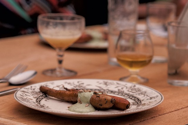 Smoked carrots with herb pesto - MICHAEL VERILLO