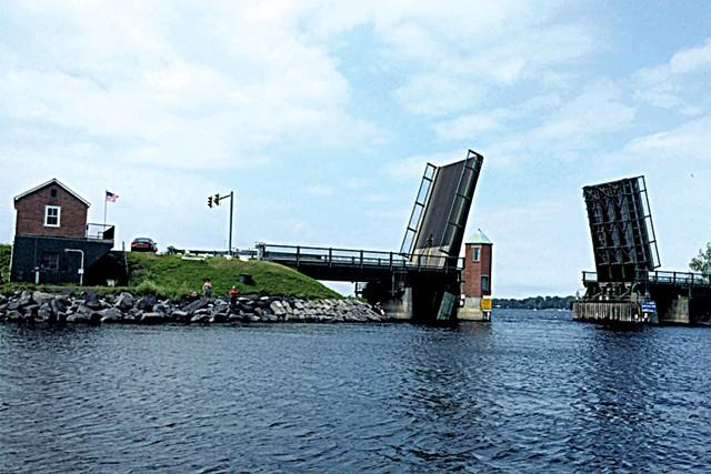North Hero-Grand Isle drawbridge in action - COURTESY OF VERMONT AGENCY OF TRANSPORTATION