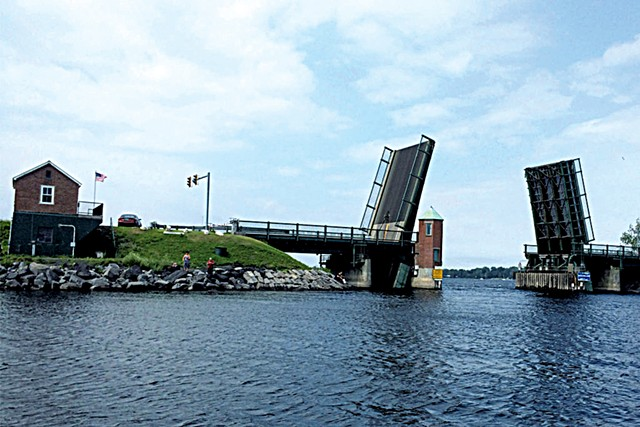 North Hero-Grand Isle drawbridge in action - COURTESY OF VERMONT AGENCY OF TRANSPORTATION