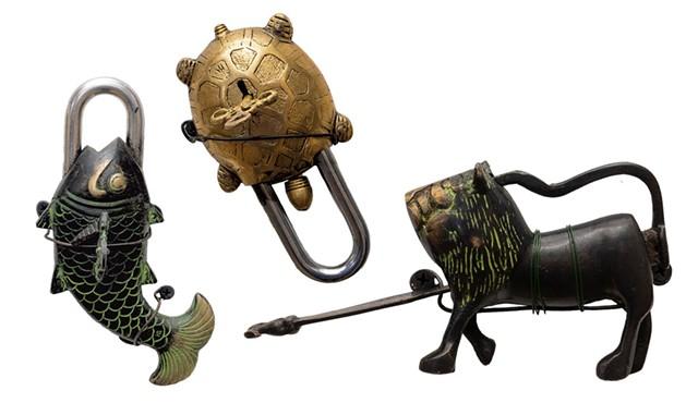 Intricate brass padlocks from around the world - DON WHIPPLE