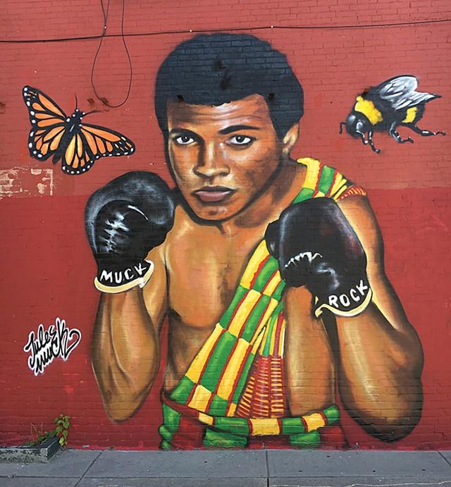 Mural at Mawuhi African Market - MATTHEW ROY