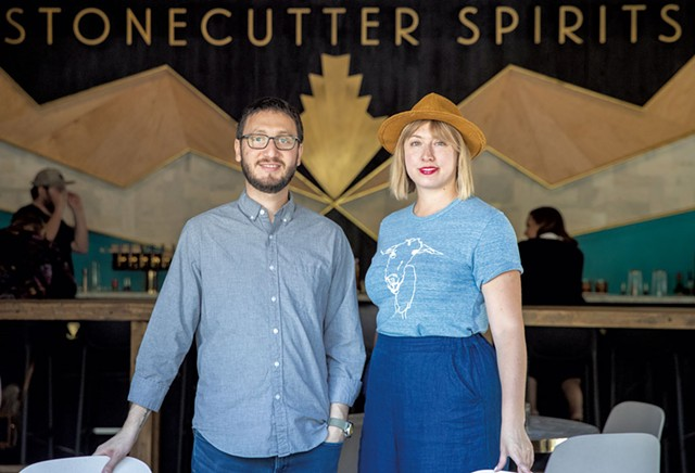 Stonecutter Spirits cofounders Sivan Cotel (left) and Sas Stewart - JAMES BUCK