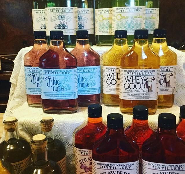 Hooker Mountain distillery's bottled output - COURTESY OF HOOKER MOUNTAIN