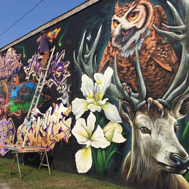 2017 Above the Radar mural - COURTESY OF BRIAN CLARK